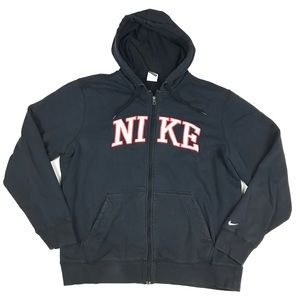 Nike Shirts - Nike Sewn Spell Out Full Zip Hooded Track Jacket